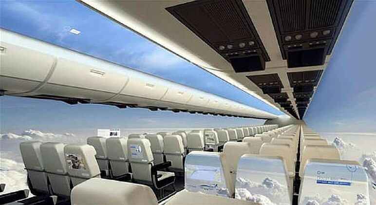 windowless plane feature